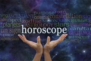 It is written in the Stars - Horoscope Banner - wide deep space